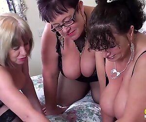 OldNannY British Mature Threesome Hardcore Sex