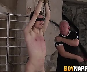 Submissive tattooed twink is ready for rough spanking