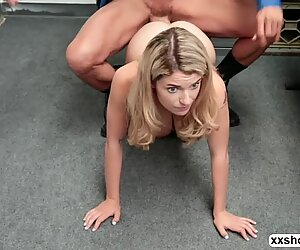 Shoplifter Abby Adams gets fuck by LPs big fat cock