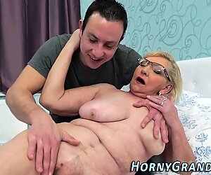 Mature granny fingered