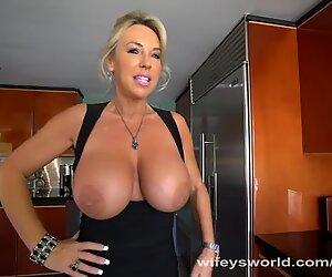 MILF With Huge Tits Sucks Strangers Cock
